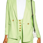 Vibrant lime green outfit
