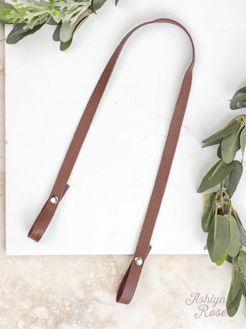 Essential Bead Necklace Extender Brown Leather