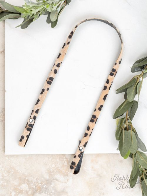 Essential Bead Necklace Extender Leopard Leather