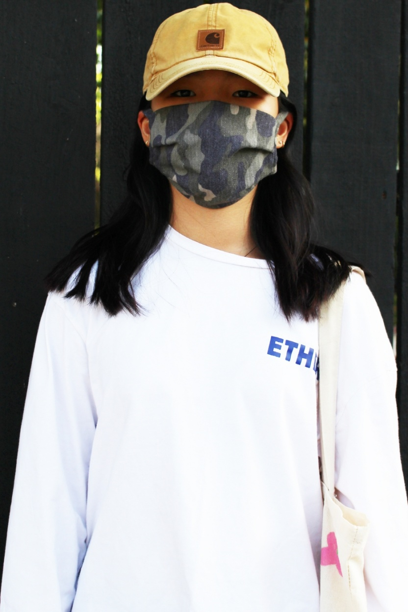 Camouflage Camo face dust mask front