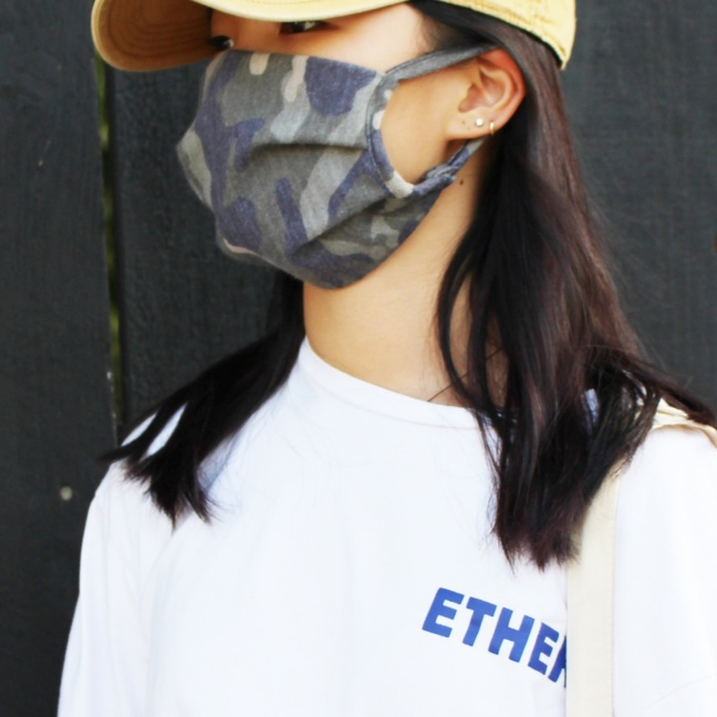 Camouflage Camo face dust mask side