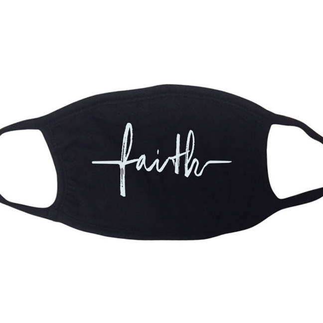 Faith-based cotton face masks faith