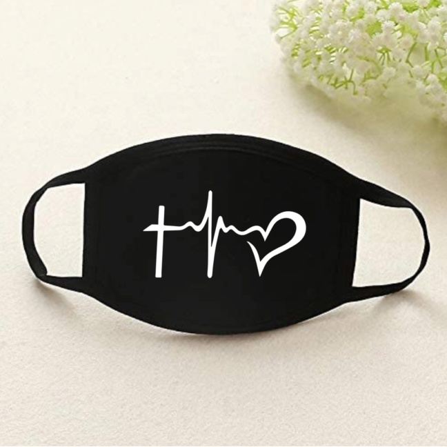Jesus faith hope love face dust mask full