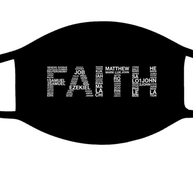 Faith with Bible Chapters face mask