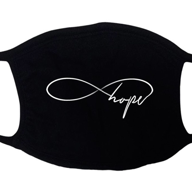 Infinity hope stretchy designer faith-based face mask
