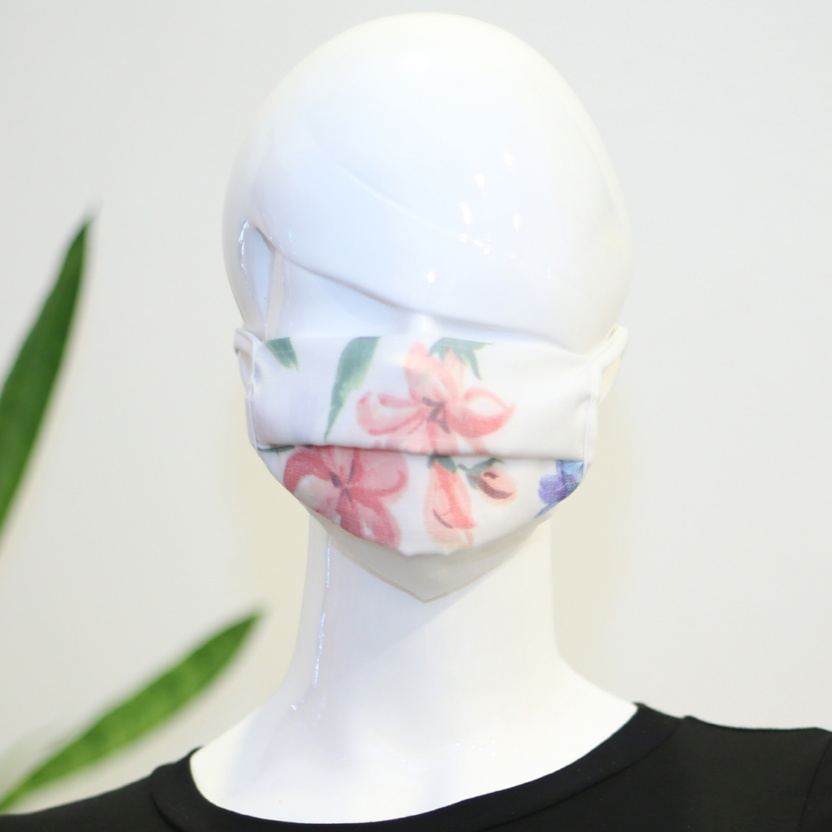 Pastel flowers face mask