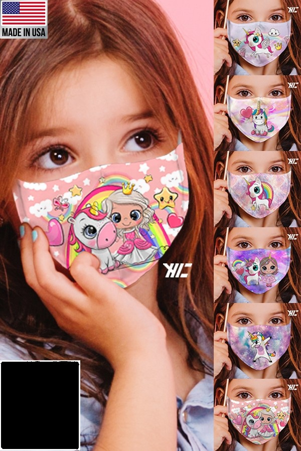 Children's face mask - Unicorn design washable mask