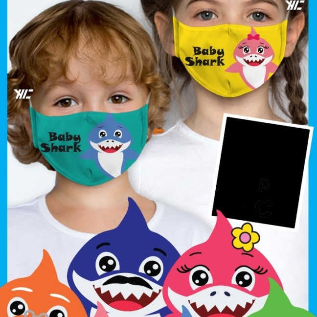 Kid's face mask - Baby Shark design washable mask