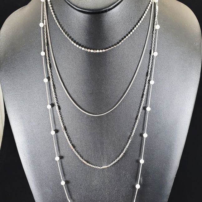 Kenze Panne 4-Chain Layered with Pearls Necklace