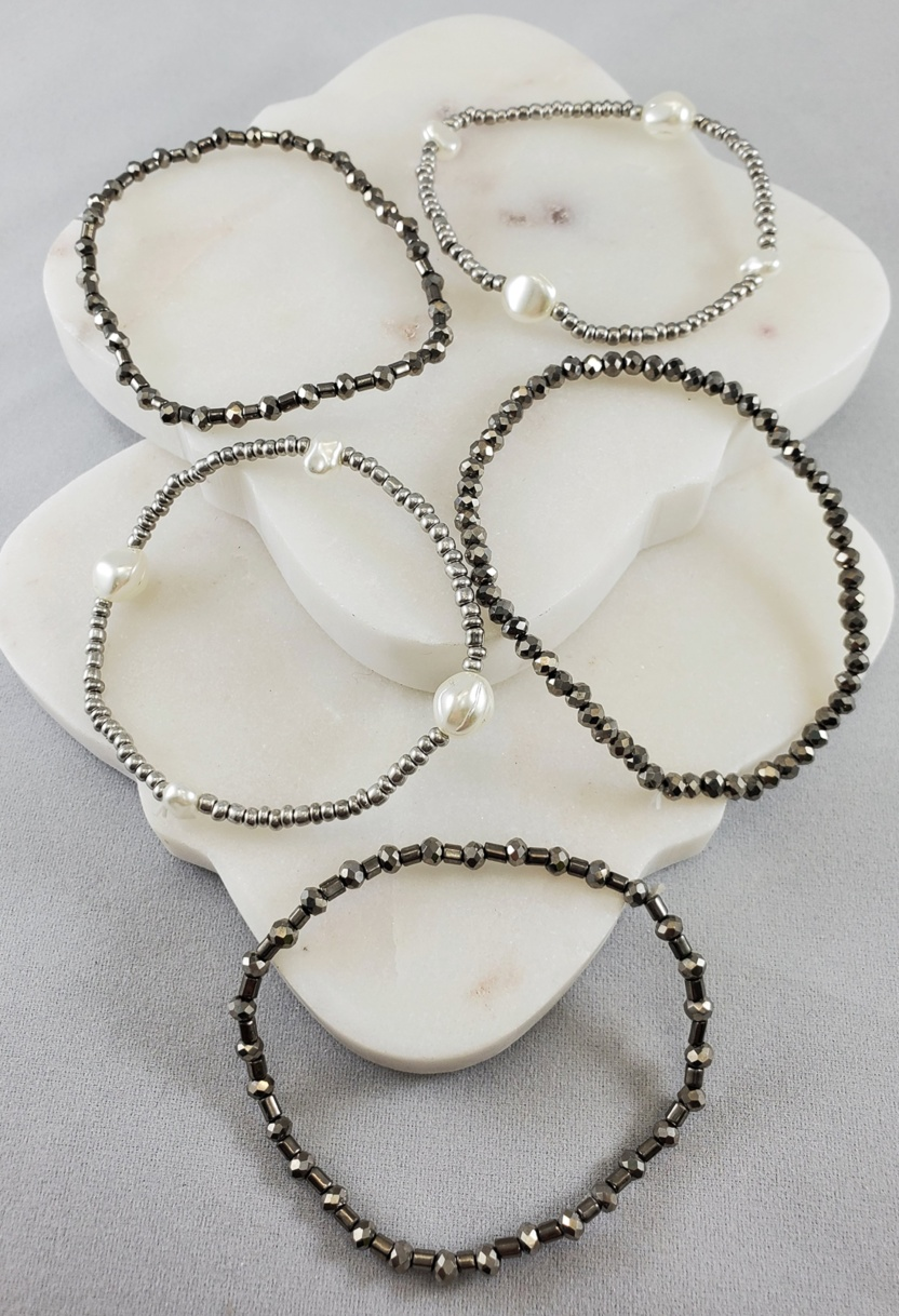 Oasis Beaded with Pearls Bracelet