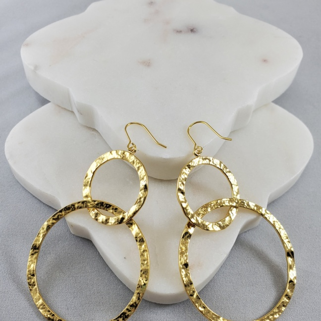 Andante Gold Dipped Brass Small/Large Loop Earring