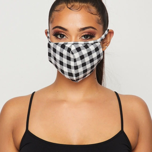 Gingham Face Mask - Double-Layered with Filter Insert pocket