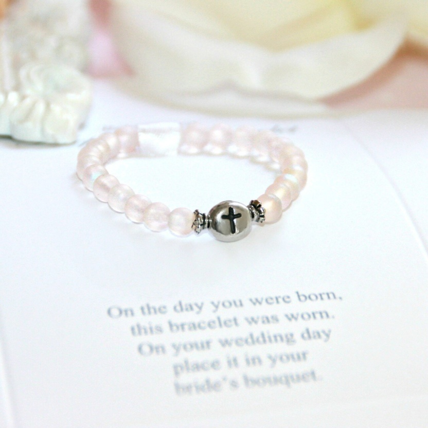 Baby's First Bracelet/Bride Keepsake Pearl, Gemstone, and Poem