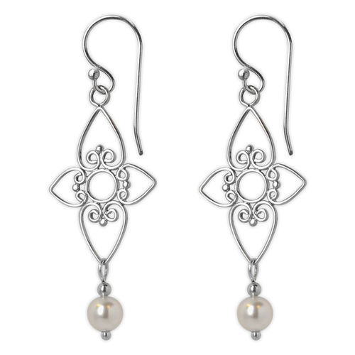 Jody Coyote Entourage White Pearl Earrings