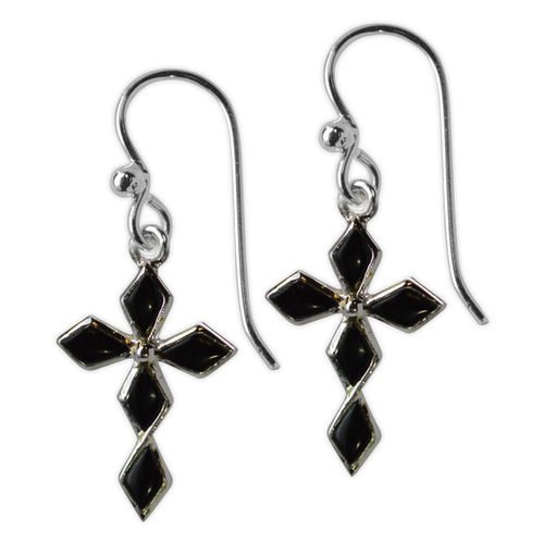 Jody Coyote Sanctuary Black Cross earrings