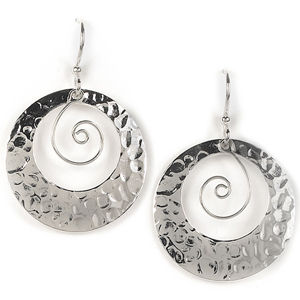 Jody Coyote Moonlight Cutout Circle Earrings