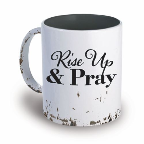 Faith-based cups - Prayer mugs - Rise up and pray cup