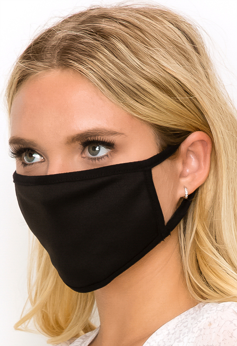 Solid colored face mask black