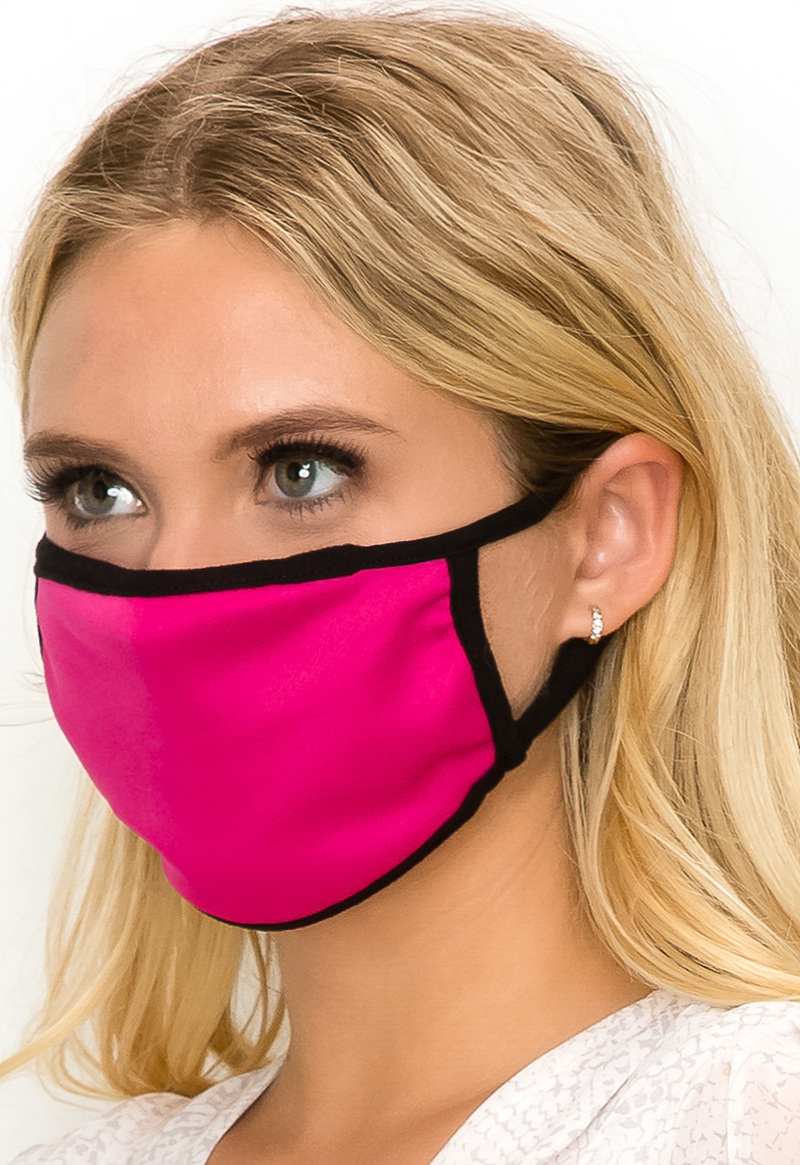 Solid colored face mask fuchsia