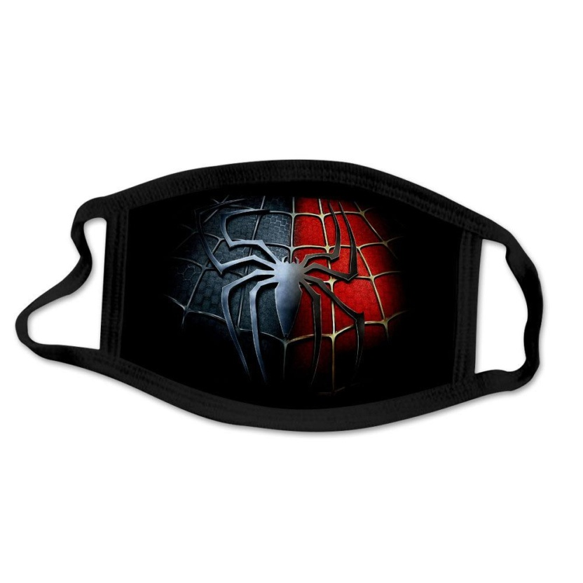 SpiderMan face masks - Black and red
