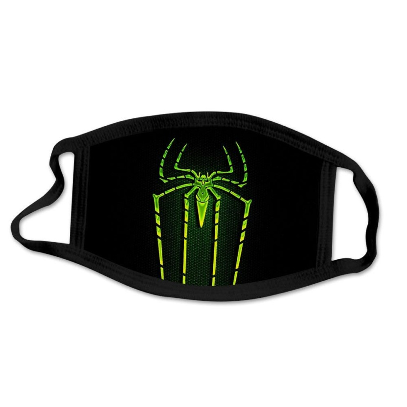 Spider-Man kids face masks - Neon Green Spider