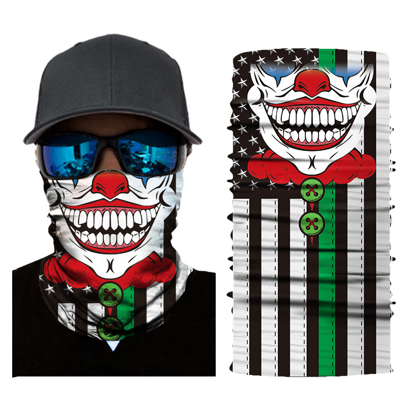 joker-clown-gaiter-balaclava-face-tube-mask-red-nose-black-flag