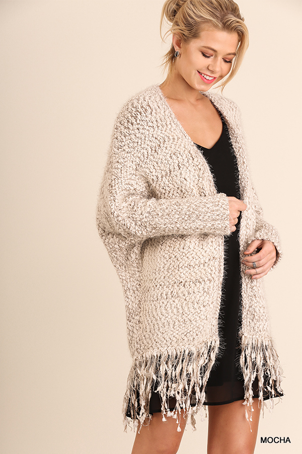 Cuddle Up Cardigan Mocha 2