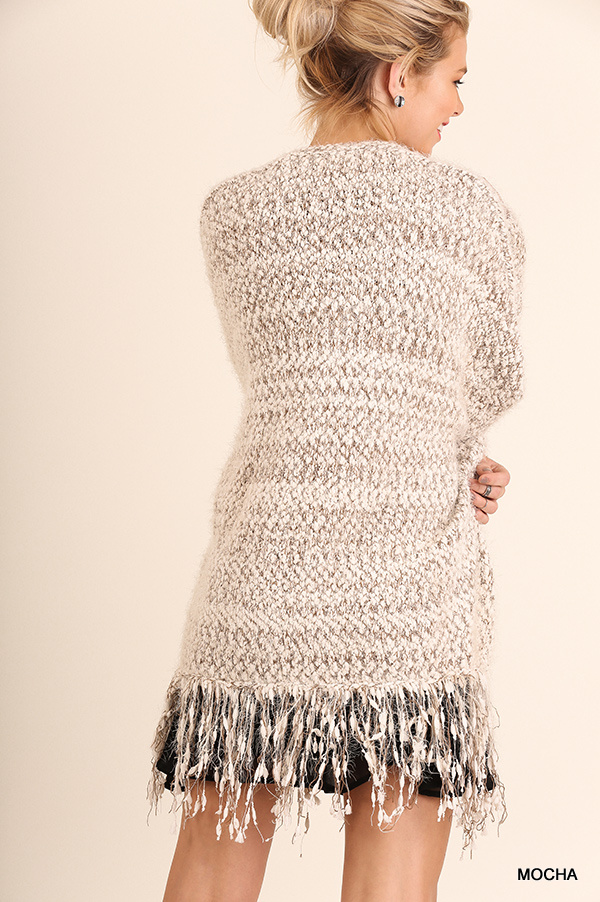 Cuddle Up Cardigan Mocha back