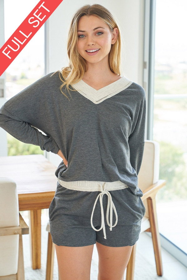 Solid Knit Two Piece Set front 3