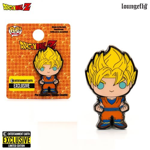 exclusive dragon ball z super saiyan goku pop enamel pin