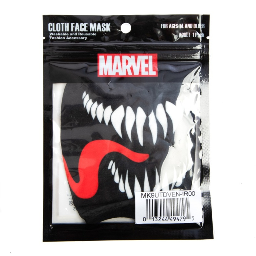 marvel venom adult adjustable face maskcover in package