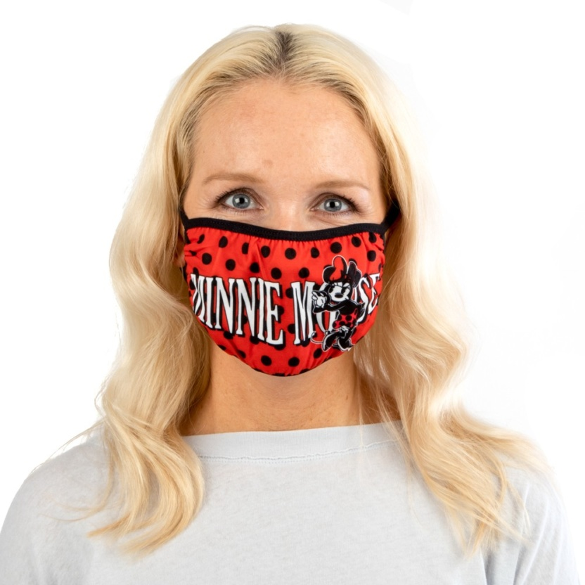 minnie mouse adult adjustable face maskcover on face