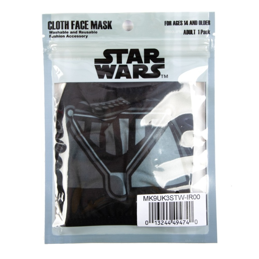 star wars darth vader adult adjustable face maskcover in package