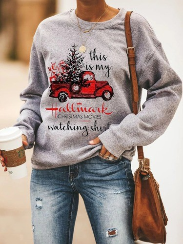 This is my Hallmark Christmas Movie Watching gray sweatshirt