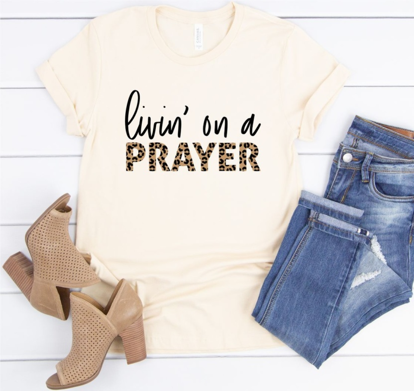 Leopard Livin` On Prayer Softstyle Tee