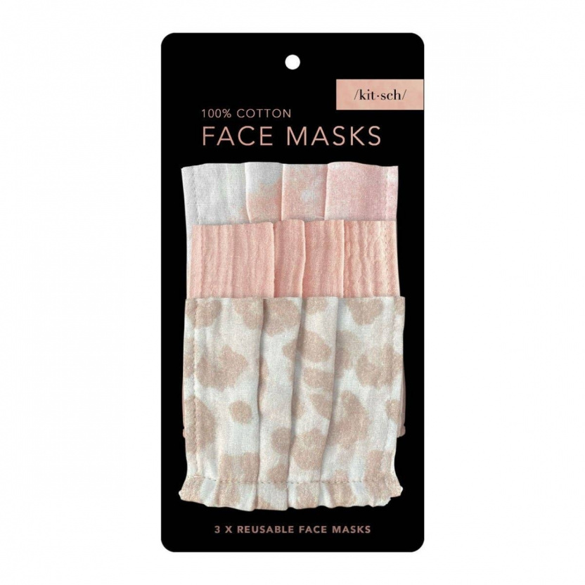 Cotton Face Masks in package