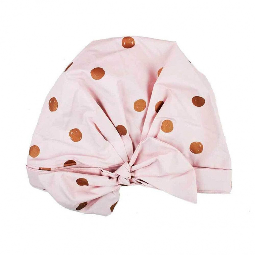 Luxe Shower Cap - Elevated Shower Cap For Your Hair Blush Dot