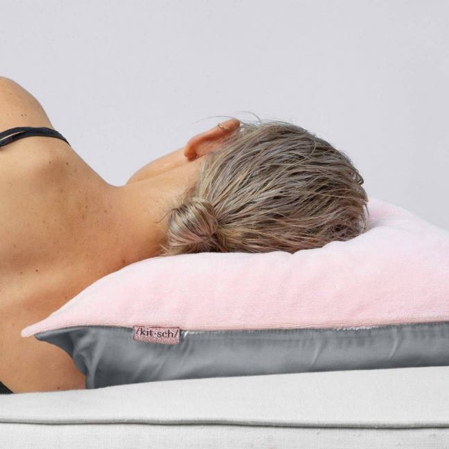 Towel Pillow Cover Blush sleeping
