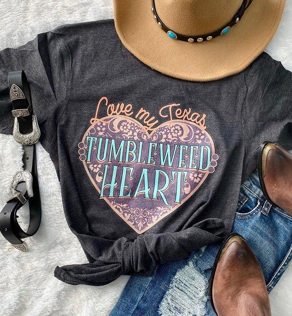 Love my Texas Tumbleweed Heart T-Shirt