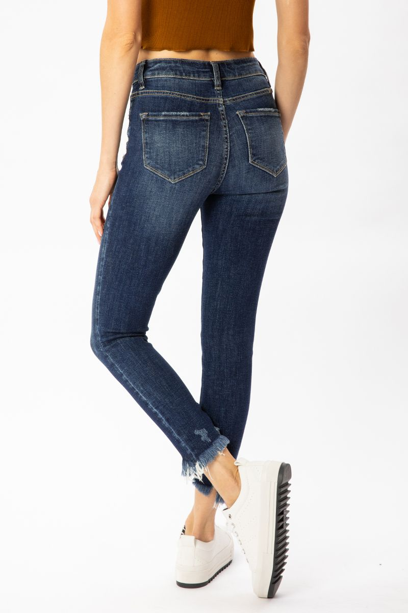KanCan Gemma High Rise Ankle Skinny Jeans back left