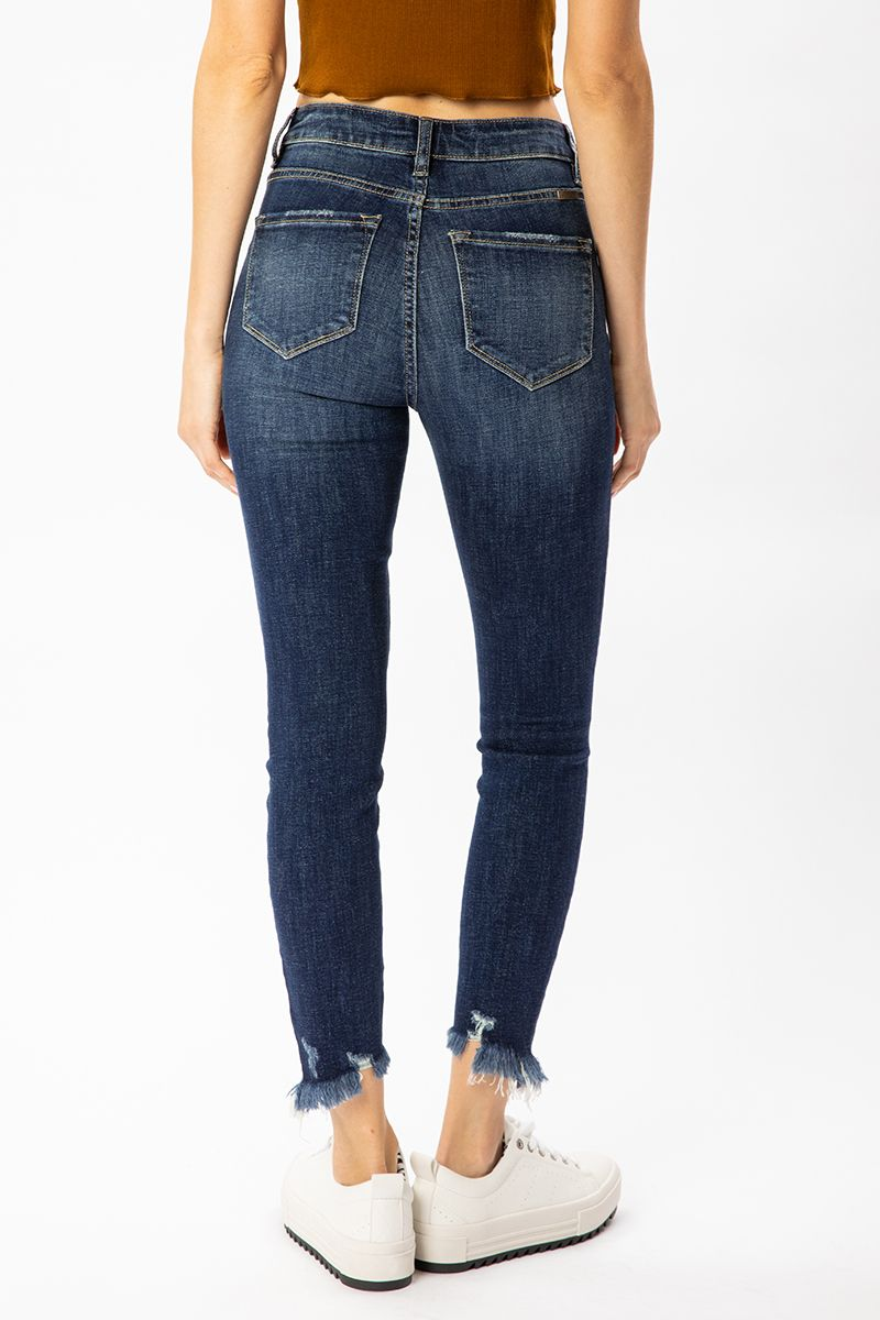 KanCan Gemma High Rise Ankle Skinny Jeans back relaxed