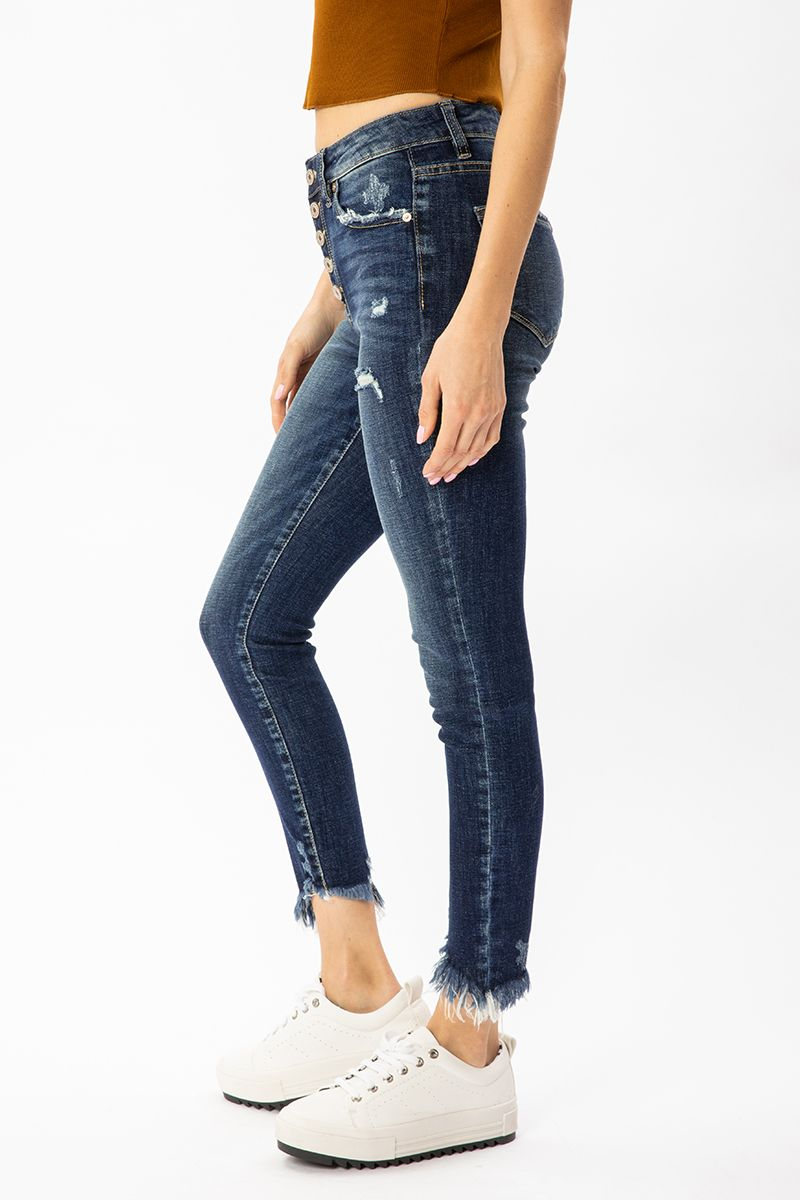 KanCan Gemma High Rise Ankle Skinny Jeans left