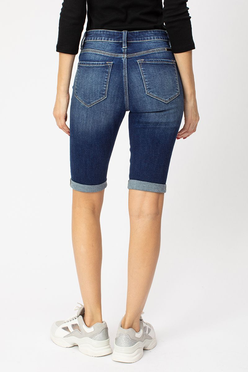 Karly High Rise Cuff Bermuda back relaxed