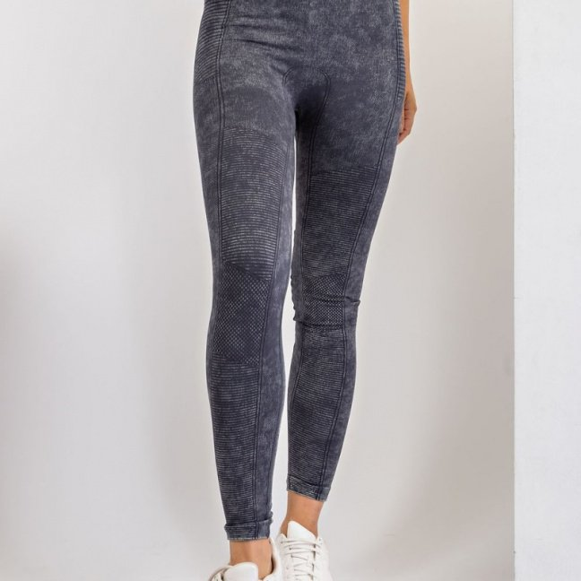 Mineral washed seamless leggings - Make a Move leggings front