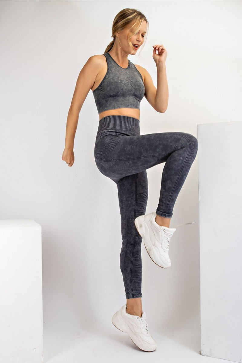 Mineral washed seamless leggings - Make a Move leggings side
